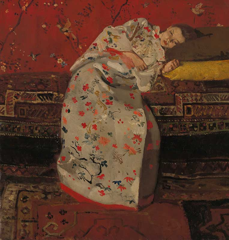 George Hendrik Breitner, Meisje in witte kimono, 1895. Olieverf op doek, 58,5 x 55,5 cm. Rijksmuseum Twenthe, Enschede. Foto R. Klein Gotink