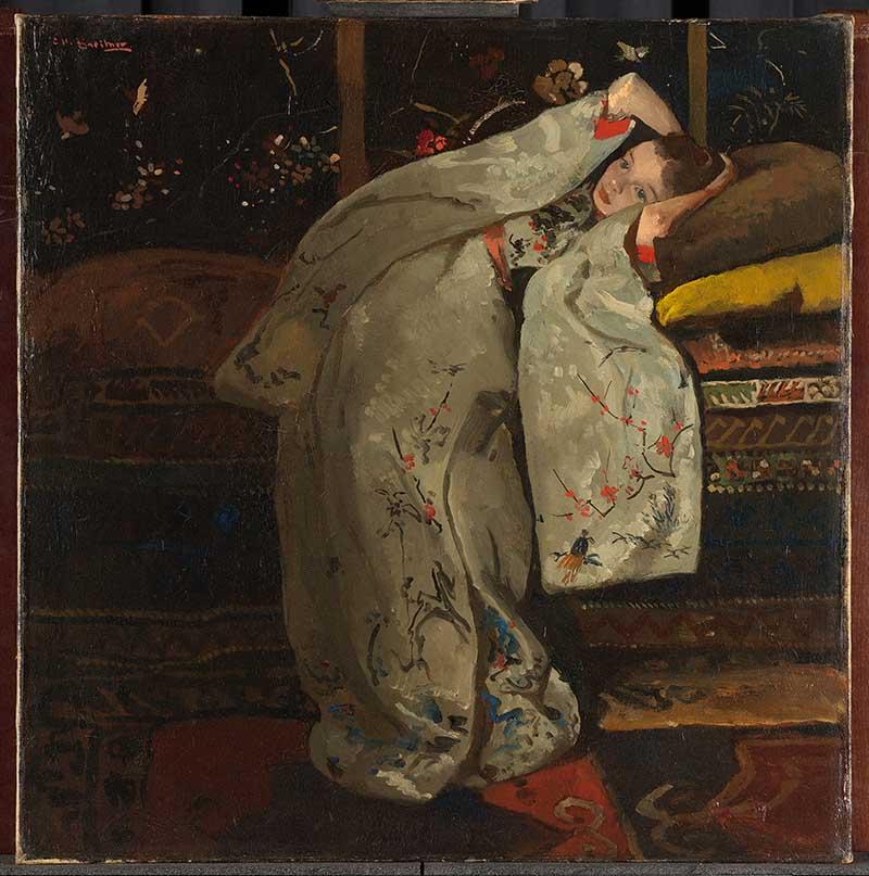 George Hendrik Breitner, Meisje in witte kimono, 1894. Olieverf op doek, 59 x 57 cm. Rijksmuseum, Amsterdam. Legaat van de heer en mevrouw Drucker-Fraser, Montreux, 1944