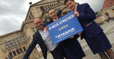 Ryanair verdoppelt Berlin-Betrieb im Winterflugplan 2016/17