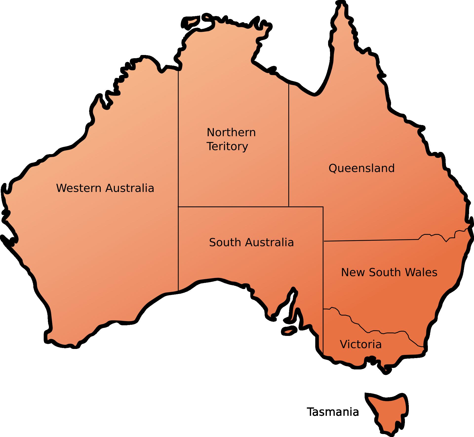 Die Bundesstaaten und Territorien Australiens