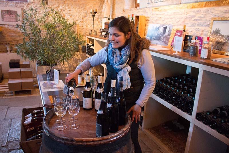 Weinverkostung im Weingut Domaine de la Folie. Foto: Ingo Paszkowsky