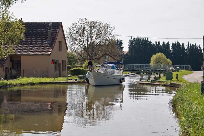 Hausboot-Trip in Burgund
