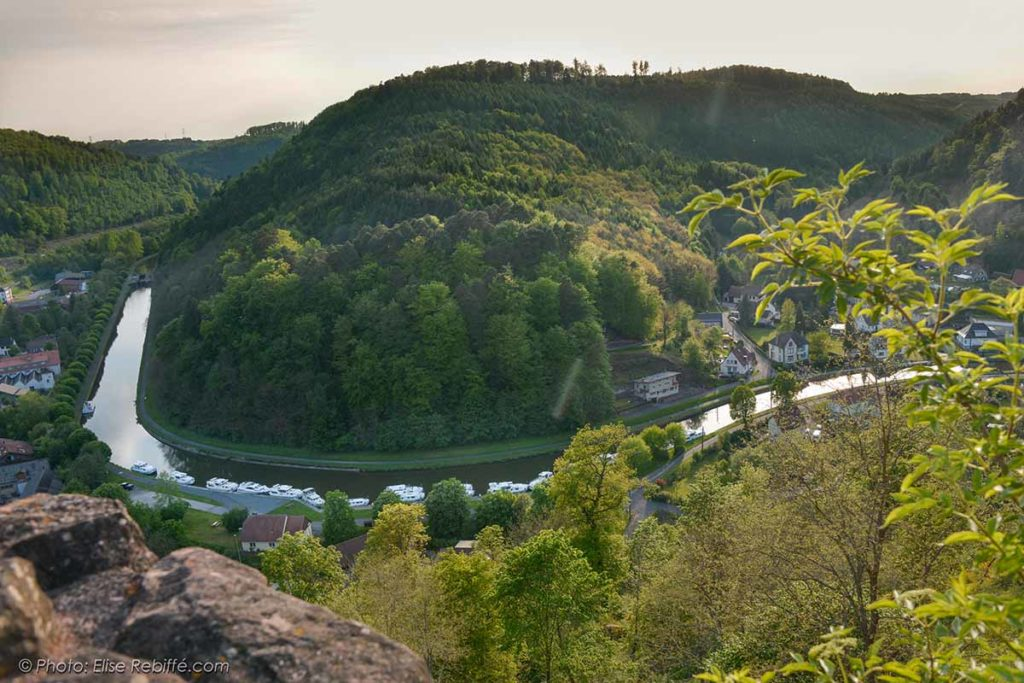 Sicht von Schloss Lutzelbourg
