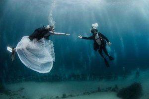 Traumhochzeit auf dem Meeresboden Monacos. Foto: Fürstentum Monaco