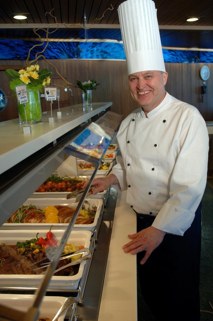 Leckeres Essen vom Buffet. Foto: Finnlines