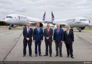 LATAM Airlines mit dem neuen A320neo. Foto: Airbus / A. Doumenjou