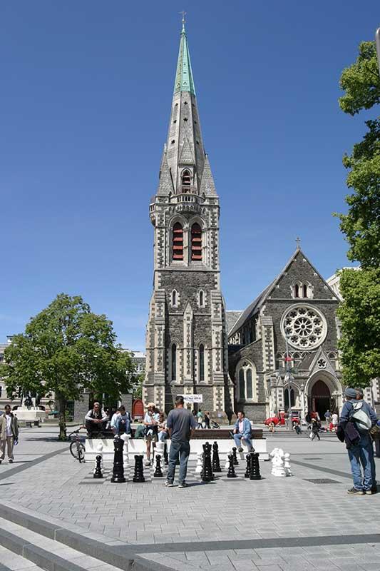 Ein Erdbeben im Februar 2011 zerstörte große Teile der Stadt, auch die majestätische, 130 Jahre alte, anglikanische Kathedrale. Unser Foto ist aus dem Jahr 2003. Foto: Ingo Paszkowsky