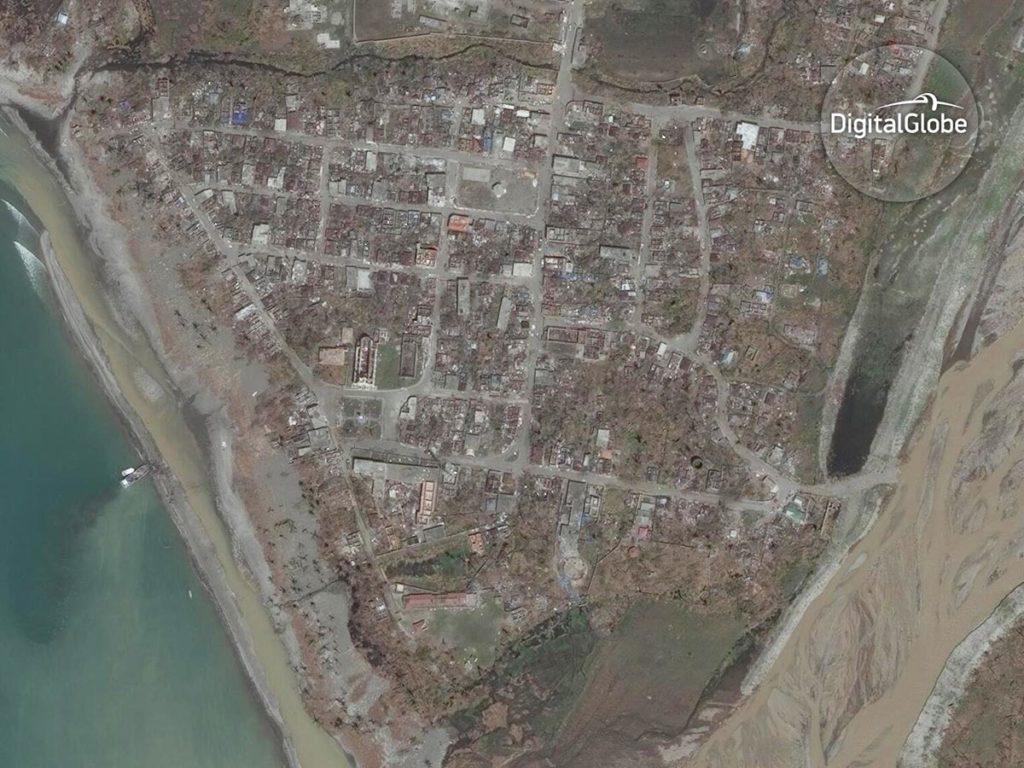 Les Anglais auf Haiti nach dem Strum. Aufnahme vom 9. Oktober 2016. Image Copyright 2016 DigitalGlobe Inc
