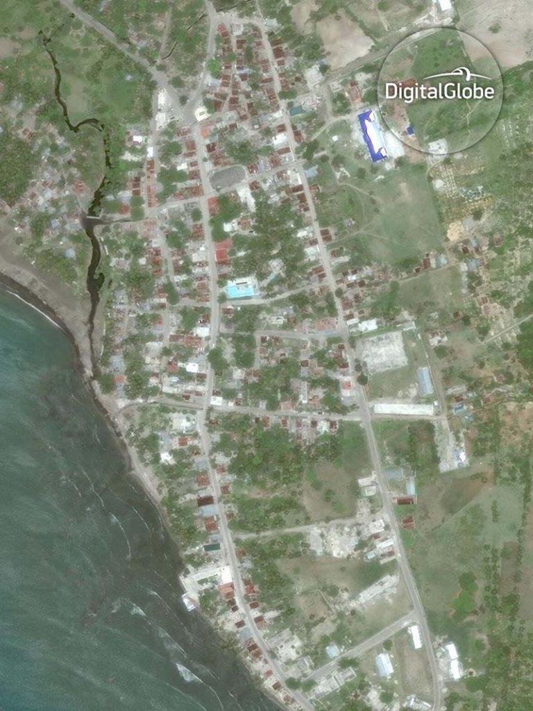 Satellitenaufnahme von Coteau auf Haiti vom 9. Juni 2013. Image Copyright 2016 DigitalGlobe Inc
