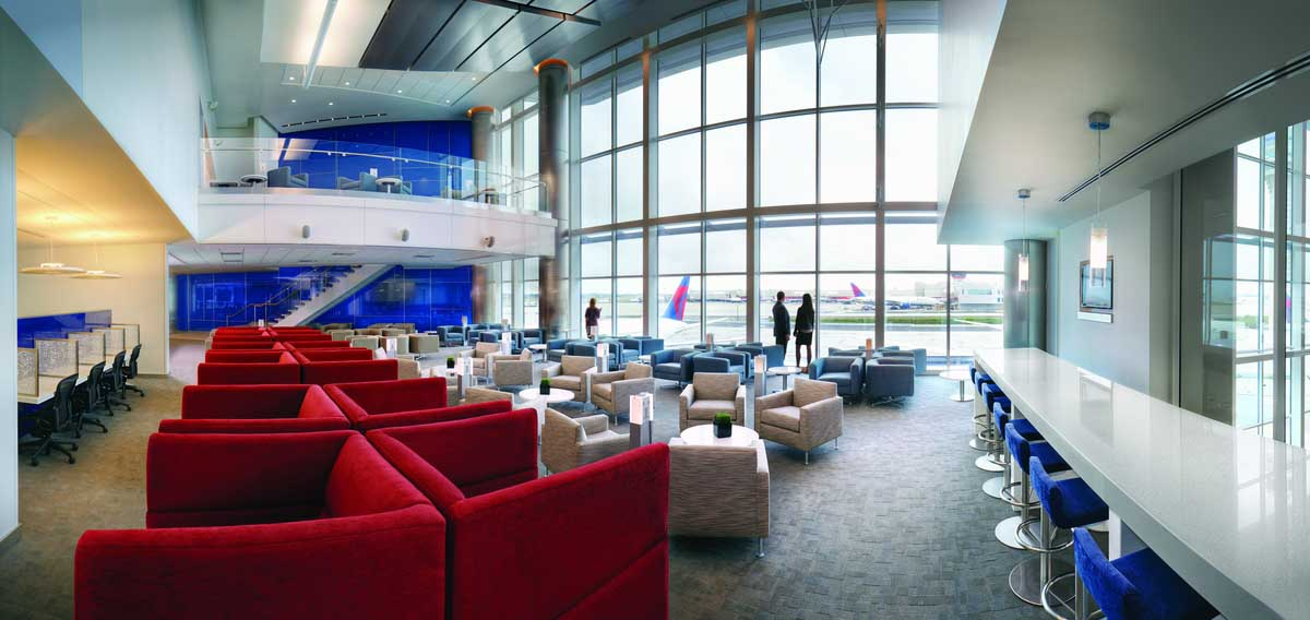 Sky Club in Wartehalle F im Hartsfield-Jackson Atlanta International Airport