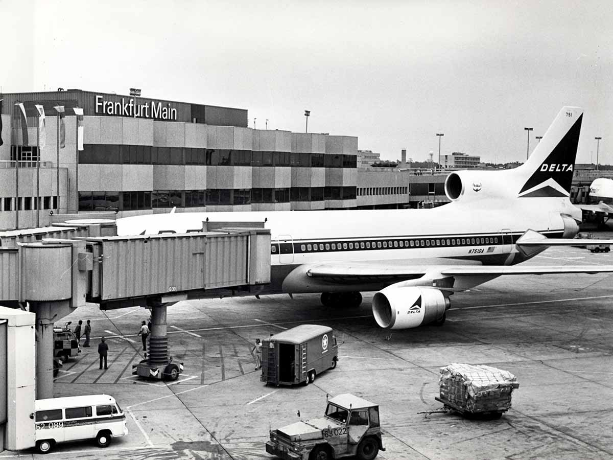 Delta Air Lines-Flieger 1979 in Frankfurt am Main