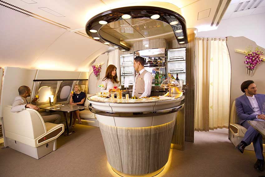 Die neue Emirates Bord Lounge. Copyright: David Copeman. / Emirates