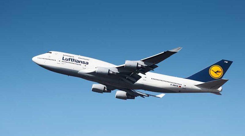 Lufthansa Langstrecken-Jumbo-Jet auf Kurzstrecke in Deutschland unterwegs