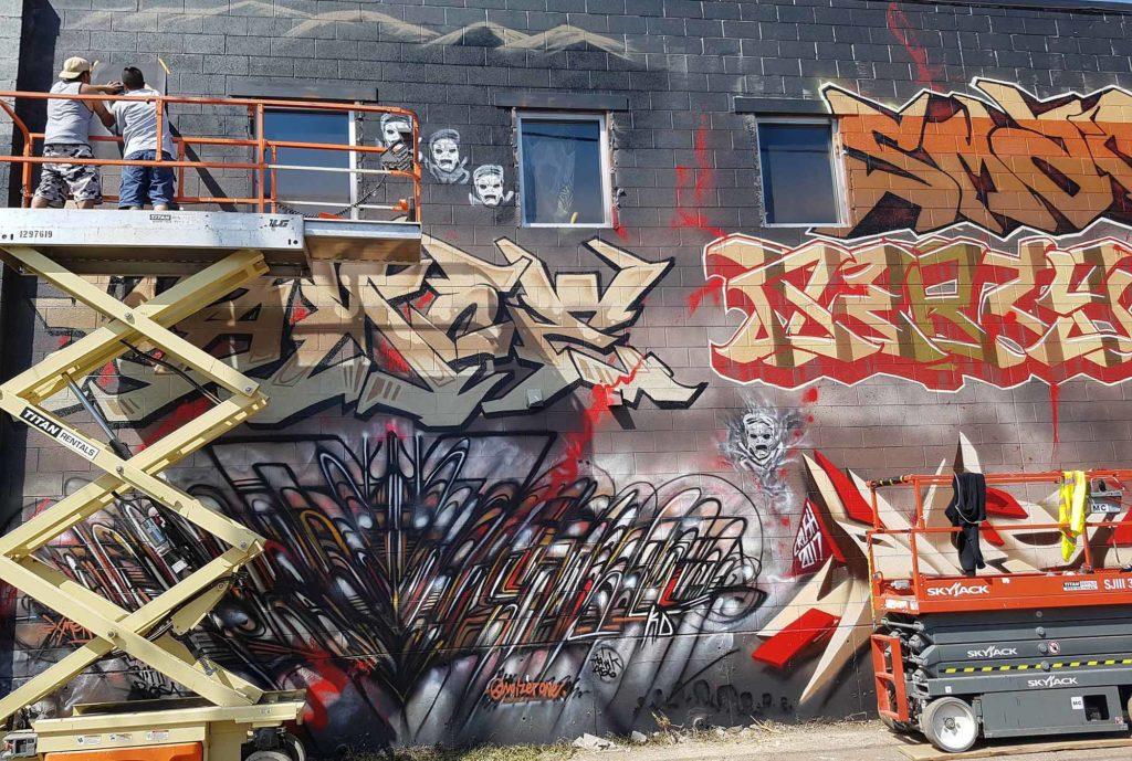 RiNo Art District. Das frühere Industriegebiet bietet heute zahlreichen Künstlern Arbeits- und Ausstellungsflächen, was bereits an den Fassaden der einst heruntergekommenen Gegend gut zu sehen ist. / Foto: WeltReisender.net / Stefanie Gendera