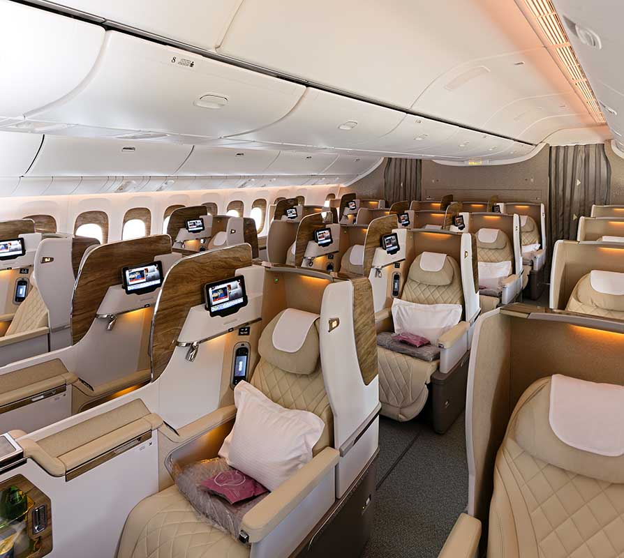 Neue Business-Klasse der Emirates Boeing 777