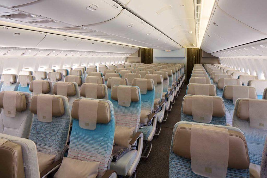 Emirates Boeing 777 mit der neuen Economy