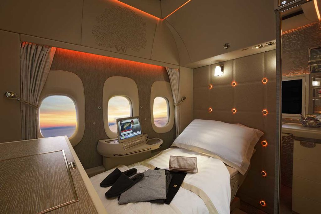 Neue First Class Privatsuiten in der Emirates Boeing 777