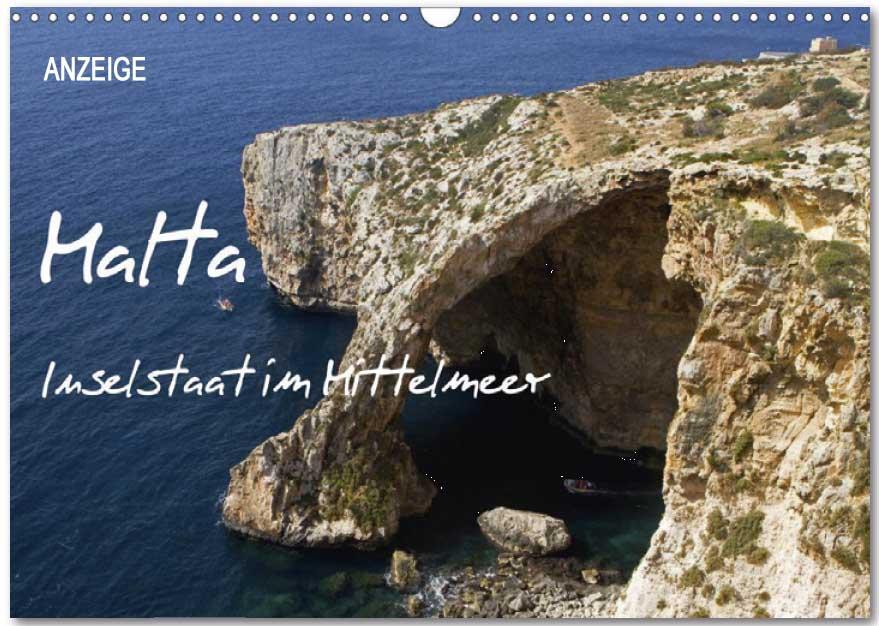 Kalender von WeltReisender.net: Inselstaat im Mittelmeer