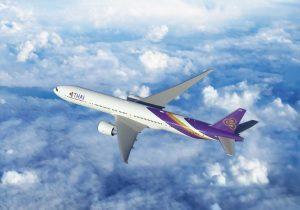 Die Thai Airways B777-300ER ersetzt auf den Strecken von Deutschland nach Thailand den A350-900. Foto: Thai Airways
