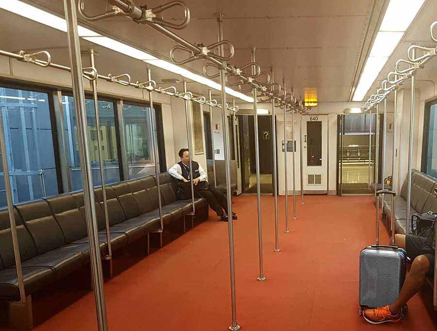 Und so sieht der Shuttle-Bus in Washington D.C. von innen aus. / Foto: WeltReisender.net / Stefanie Gendera