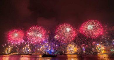 Hongkong: Musikalisches Feuerwerk, Sternschnuppen und Luft-Zirkus am Victoria Harbour. Foto: Hong Kong Tourism Board