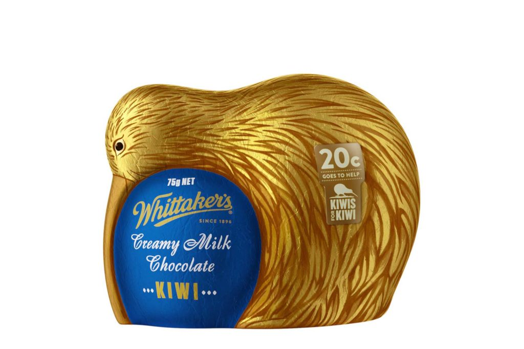 Oster-Kiwi aus Schokolade von Whittaker's. Foto: Whittaker's