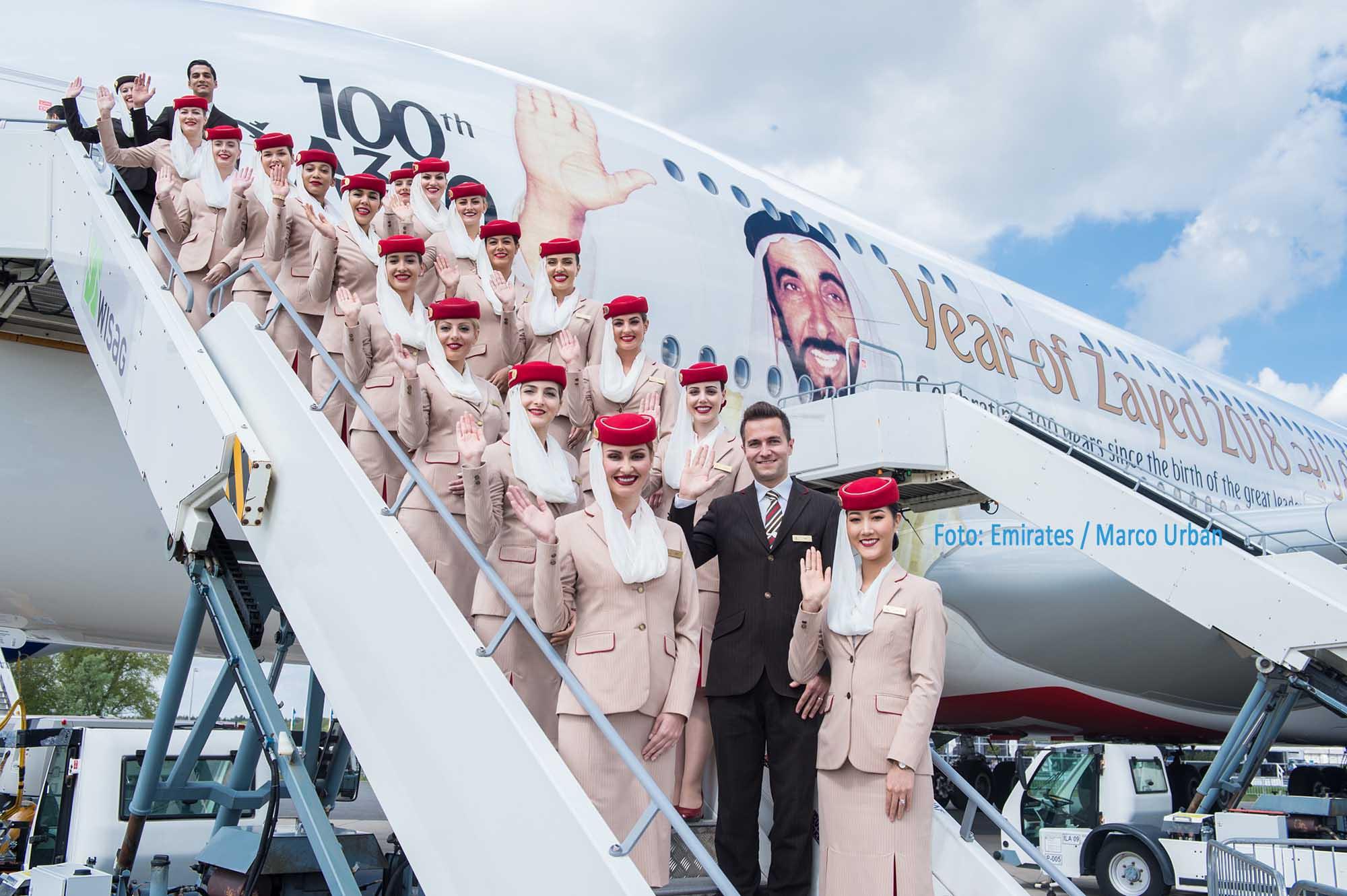 Die Emirates A380 auf der ILA Airshow 2018 / Foto: Emirates / Marco Urban