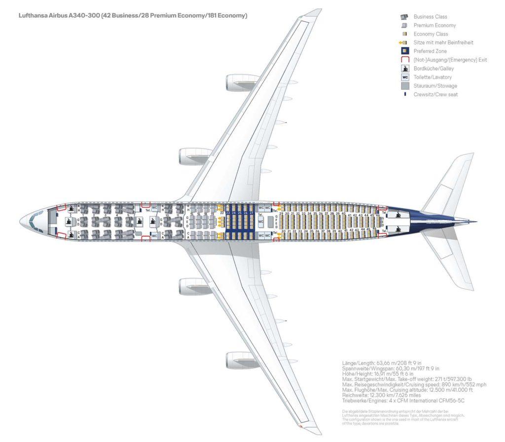 """Fotostrecke: Sitzplatzkonfiguration der Lufthansa """"Eindecker"""