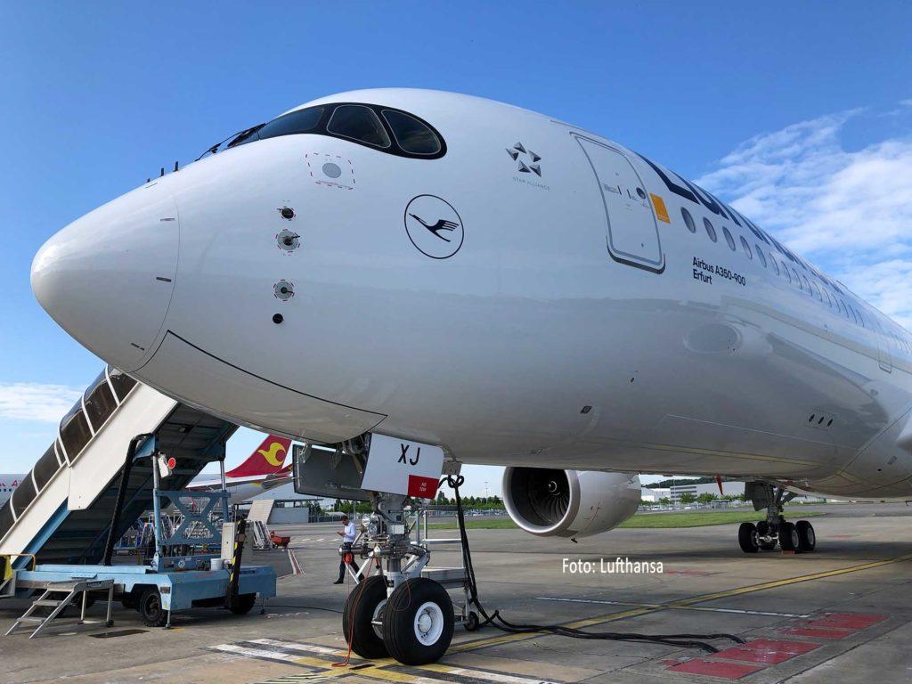 Lufthansa Airbus A350-900 Erfurt. Foto: Lufthansa