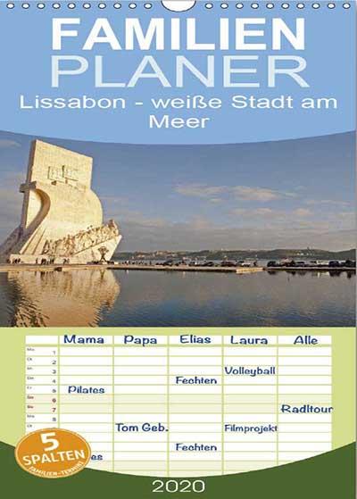 Familienplaner Lissabon - weiße Stadt am Meer