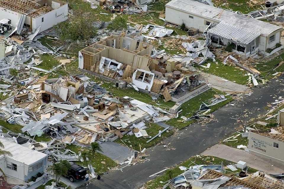 Verwüstungen durch Hurrikan Charley 2004. Foto: pixabay / WikiImages