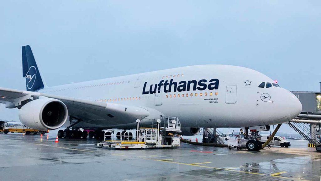 Erster Lufthansa A380 in neuer Lackierung. Foto: Lufthansa