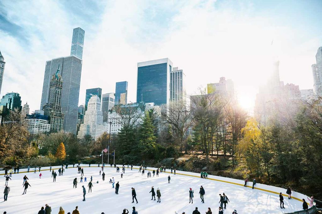 Central Park in New York City Wollman Rink im Winter. Foto: Eurowings / info@weitblick-fotografie.de