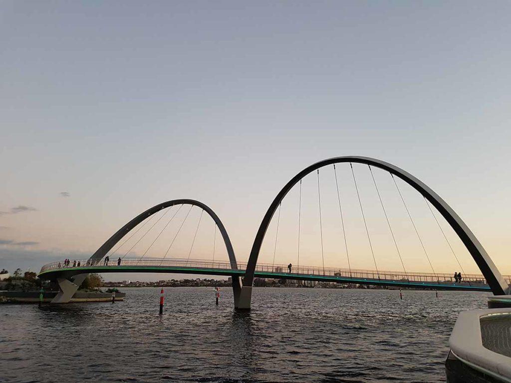 Interessante Konstruktion dieser Brücke in Perth. Foto: pixabay / juhiking