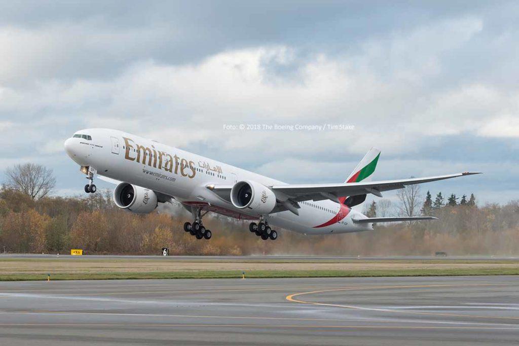 Die letzte Boeing 777-300ER - Kennung A6-EQP -, die an Emirates ausgeliefert wurde Foto: © 2018 The Boeing Company / Tim Stake