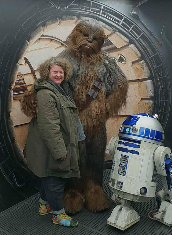 Unsere Autorin Sonja Thelen konnte Chewbacca höchstpersönlich zu treffen. Foto: Sonja Thelen