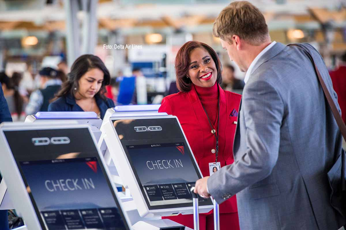 Wer ab Terminal F, dem internationalen Terminal des Hartsfield-Jackson Atlanta International Airports, zu einer internationalen Destination abfliegt, kann auf dem gesamten Weg durch den Flughafen biometrische Elemente nutzen. Fotos: Delta Air Lines