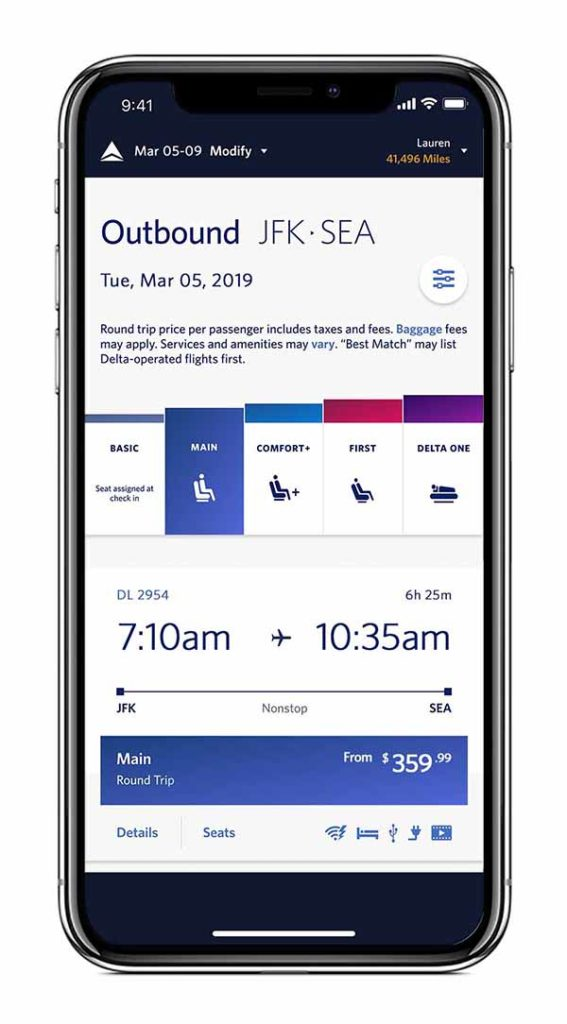 Delta optimiert den Boarding-Prozess, indem die Tickets der Kunden jetzt noch klarer die jeweilige Boardingzone signalisieren. Foto: Delta Air Lines