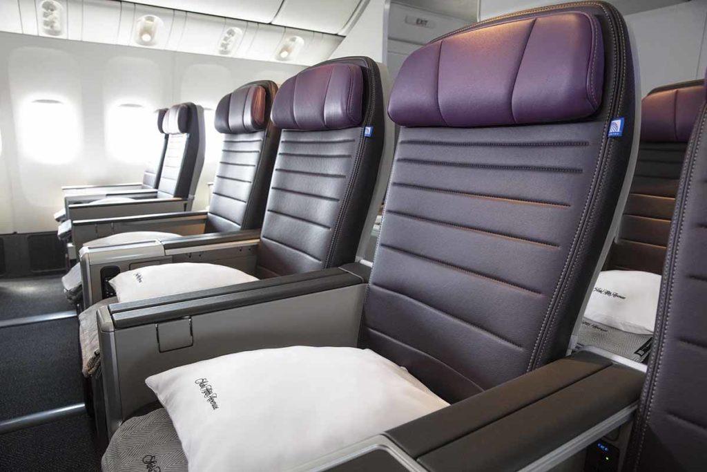 Die neue United Premium Plus. Foto: United Airlines
