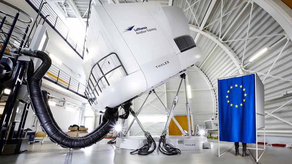 Europawahl im Lufthansa Aviation Training Center in Frankfurt Foto: Lufthansa / Jens Görlich