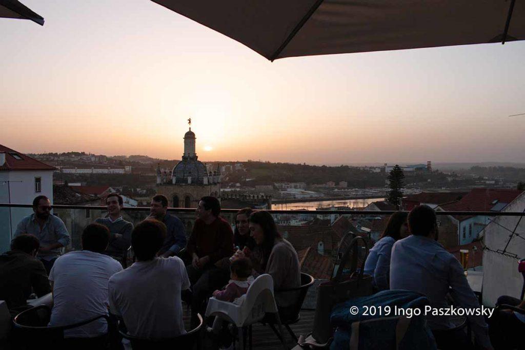 Sonnenuntergang in Coimbra