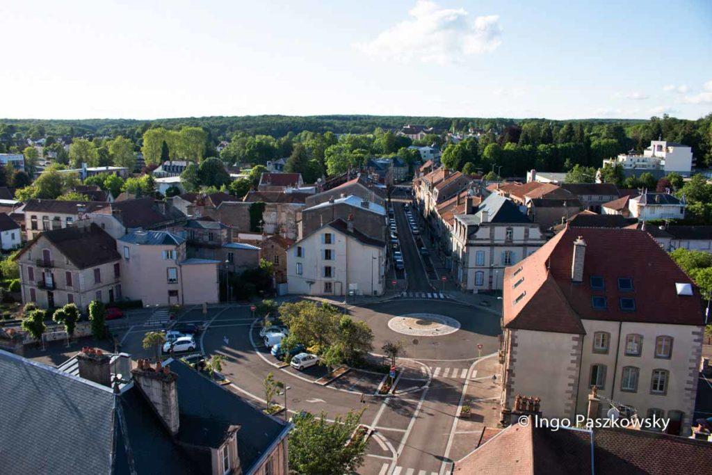 Sicht auf Luxeuil les Bains vom Schöffenturm
