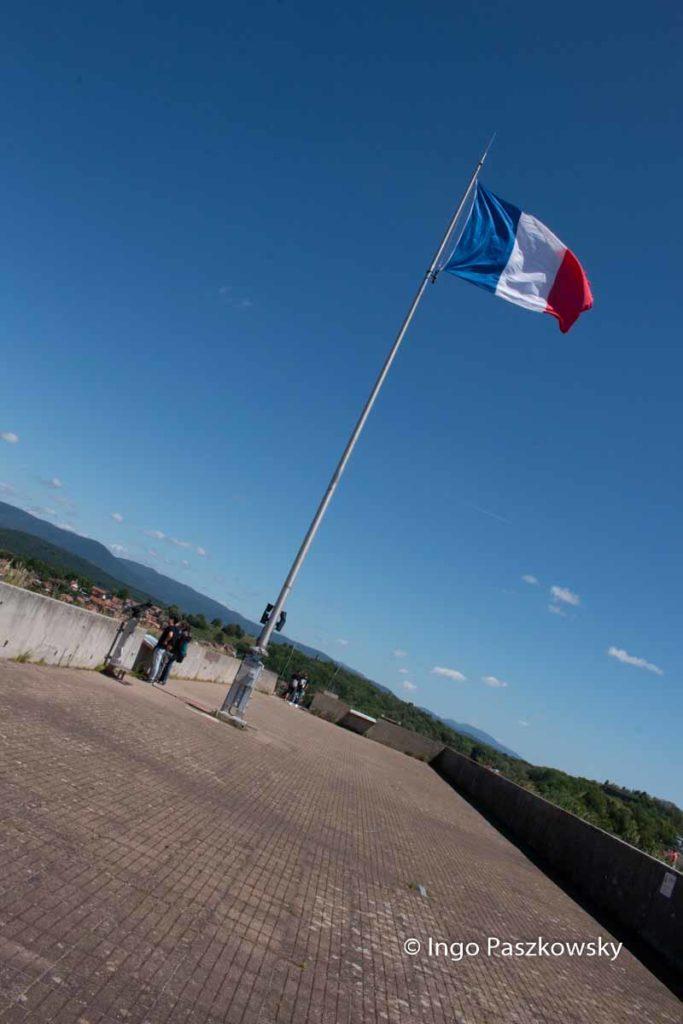 Von der Aussichtsplattform der Zitadelle in Belfort hat man eine grandiose Rundumsicht.