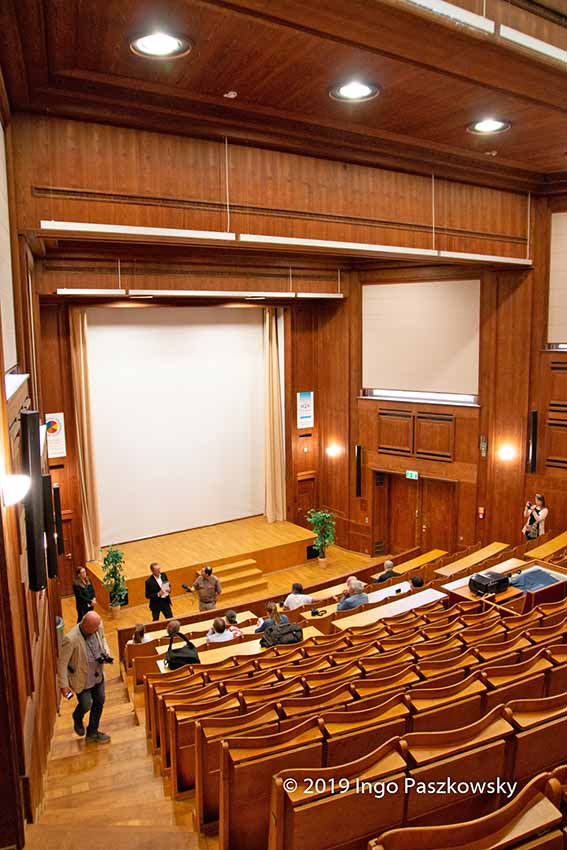 Der Hörsaal des AgfaGebäudes 041 wurde wieder originalgetreu hergestellt / Foto: Ingo Paszkowsky