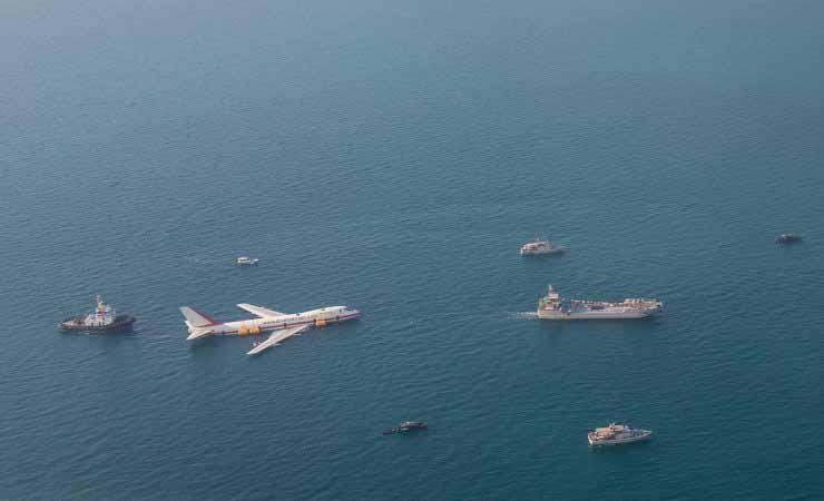 Herzstück und Highlight des Themenparks ist eine ausgemusterte Boeing 747, die bereits im Juni dort versenkt wurde. / Foto: Dive Bahrain