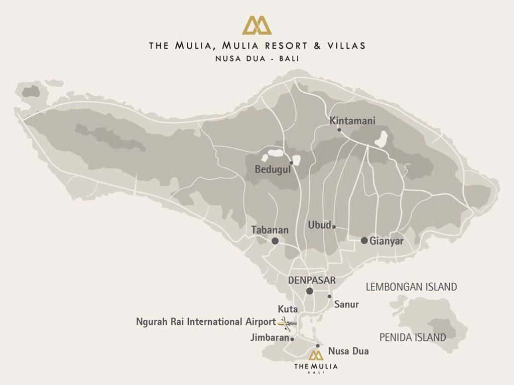 Das Fünf-Sterne Resort liegt diekt an der Küste von Nusa Dua auf Bali. / Copyright: The Mulia, Mulia Resort & Villas – Nusa Dua, Bali