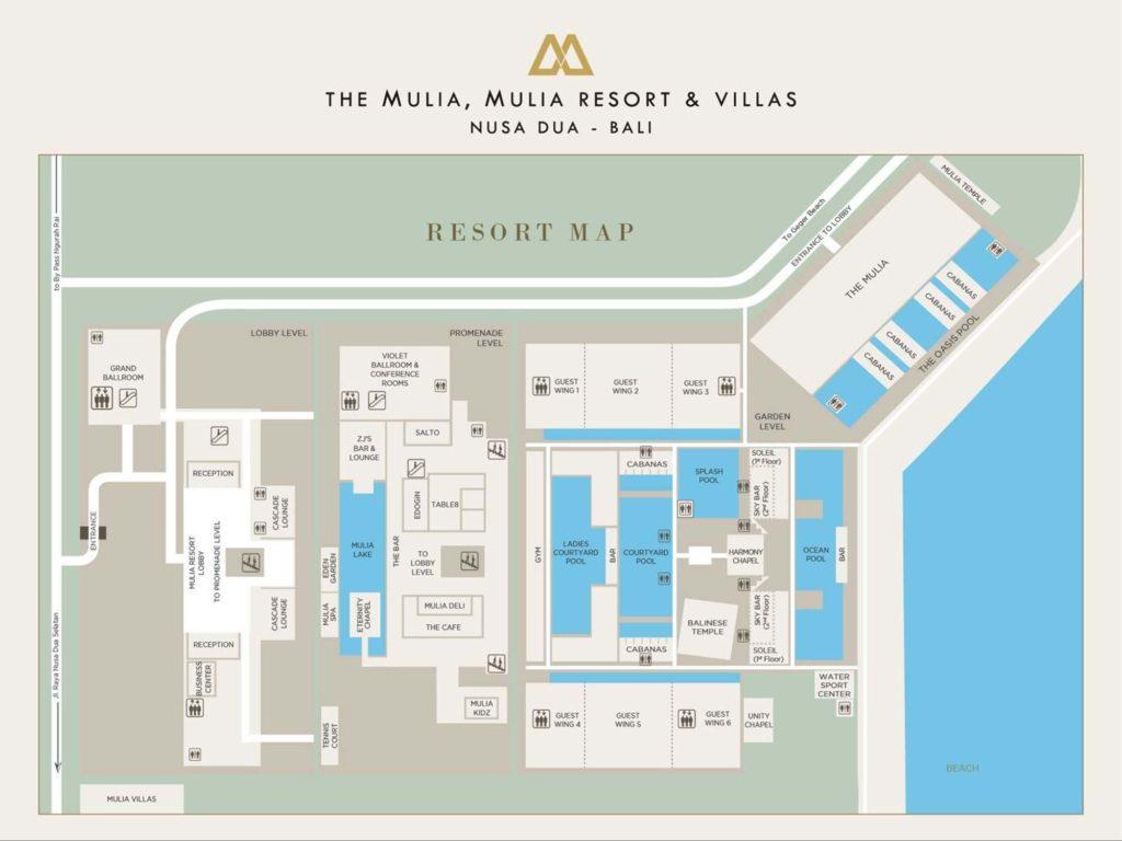 """Neben dem Hotel """"Mulia Resort"""" mit 526 Zimmern gibt es das Boutique-Hotel """"The Mulia"""" und die """"Mulia Villas"""". / Copyright: The Mulia, Mulia Resort & Villas – Nusa Dua, Bali"""