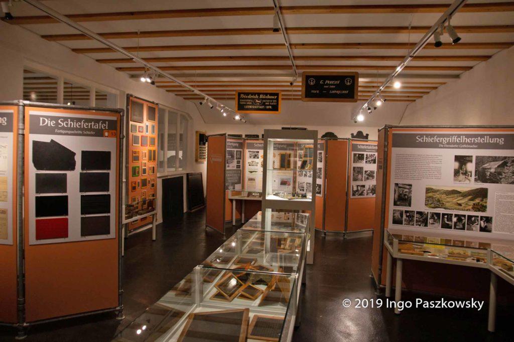 Schiefertafelmuseum Ludwigsstadt: Umfangreiche Ausstellung über Schiefertafeln / Foto: Ingo Paszkowsky