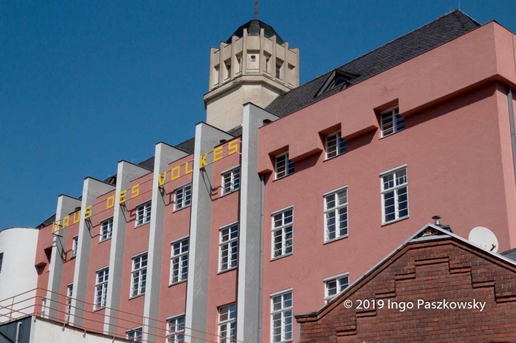 Das Haus des Volkes erbauten 1925 bis 1927 Alfred Arndt und Ernst Gebhardt im Auftrag des Industriellen Franz Itting als Hotel und kulturelles Zentrum. / Foto: Ingo Paszkowsky