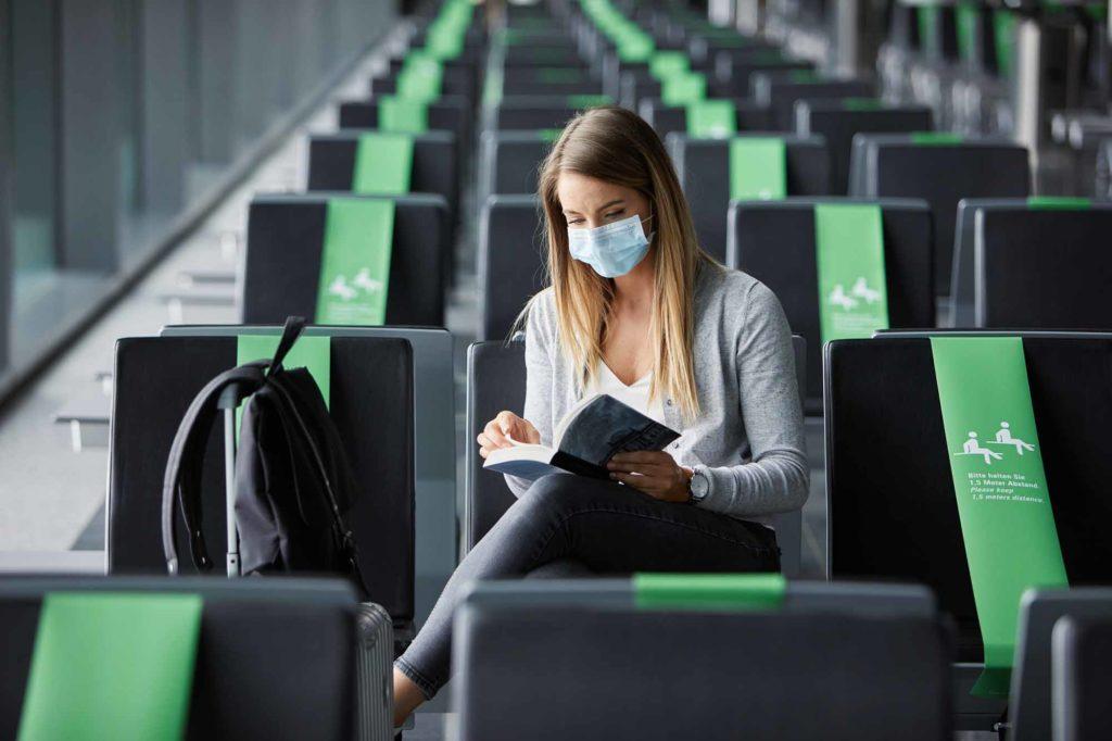 Das Tragen eines Mundschutzes ist in den Terminalanlagen verpflichtend / Foto: Lufthansa